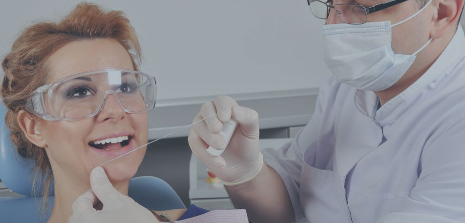 Flossing to reduce gum disease and tooth decay
